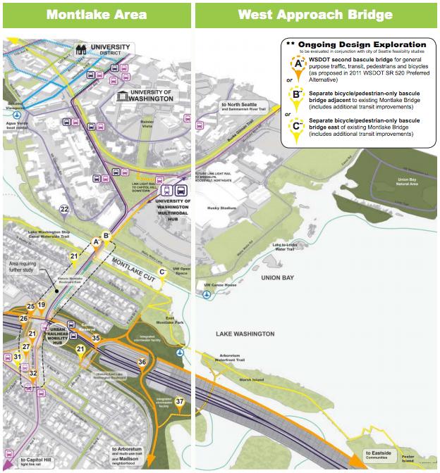 Montlake to the University District corridor design elements. (WSDOT)