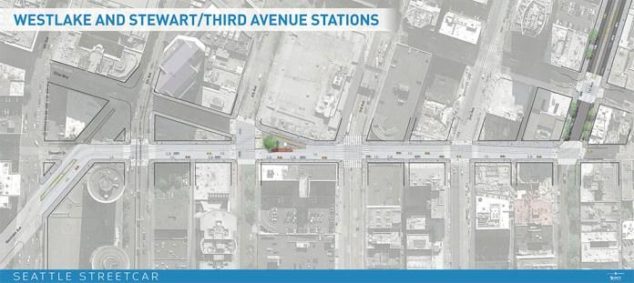 Westlake & Stewart/Third Avenue Stations (click for larger version)
