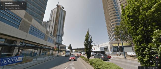 Marine Drive SkyTrain station (Google Street View)