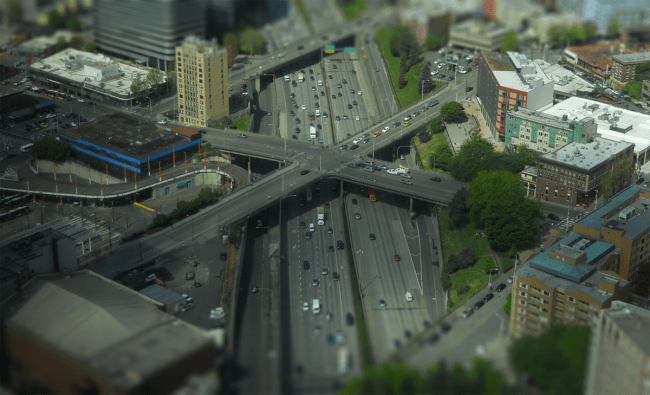 The I-5 trench. (Photo by the author)