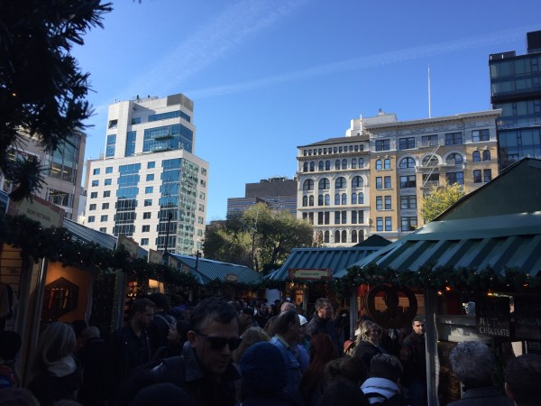 Union Square Holiday Market filled to the brim. (Photo by Stephen Fesler)