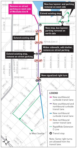 Overview of improvements. Click to enlarge. (City of Seattle)