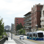 Rendering of Stadium Way near Division Ave. (Sound Transit)