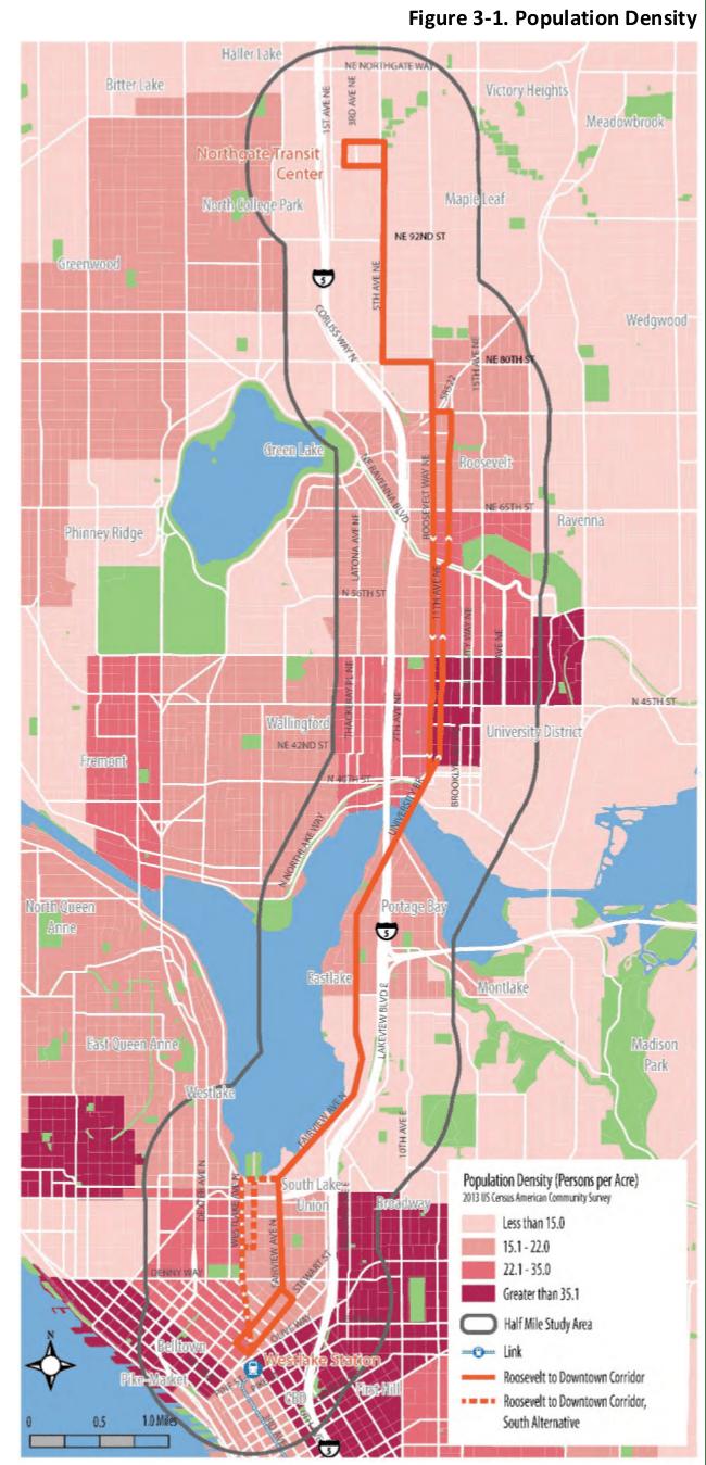 Population density. (City of Seattle)