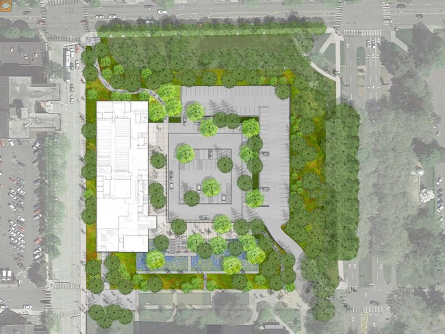 New site plan for the Burke Museum. (City of Seattle/Olson Kundig Architects)