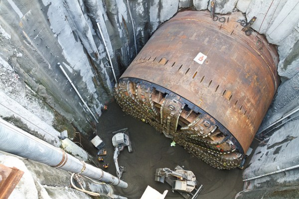 Bertha struck a steel pipe that supposedly cause the breakdown that sidelined the TBM for more than two years.