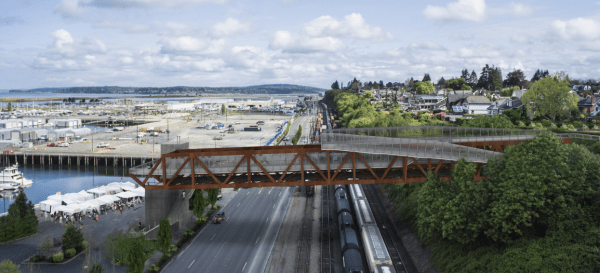 View of the bridge as seen from the south. (City of Everett)