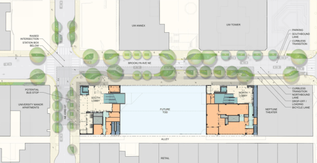 Site plan of the station (Sound Transit / LMN Architects / Swift Company).