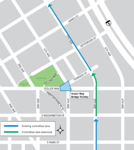 Contra-Flow Transit Lane Map (SDOT)