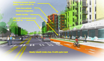 Rendering of what Linden Avenue could look like in the future. (City of Seattle)