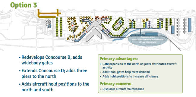 Option 3 for terminal expansion. (Port of Seattle)