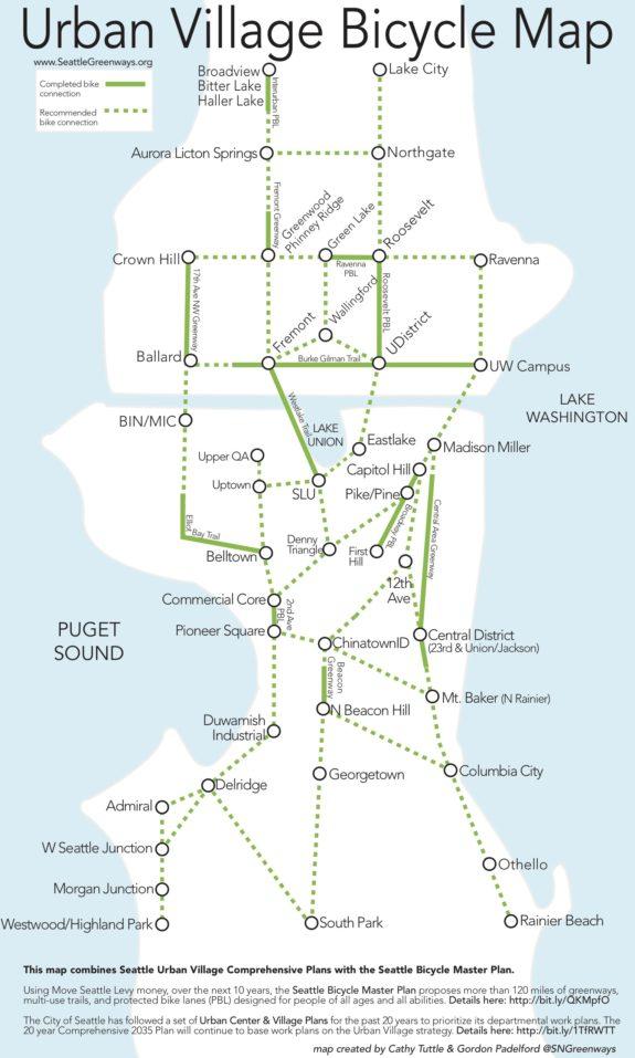 Urban Village Bicycle Map. (Seattle Neighborhood Greenways)