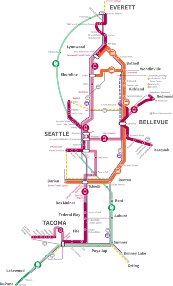 The approved ST3 plan from the June 2nd board meeting. Click for larger version. (Sound Transit)