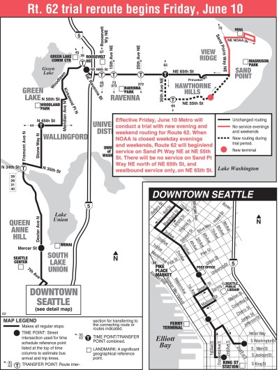 Metro's revised Route 62 that launched on June 10th. (King County Metro)