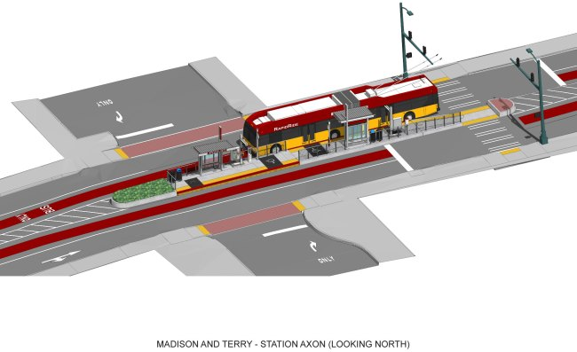 Rendering of the Terry / Madison station. (City of Seattle)