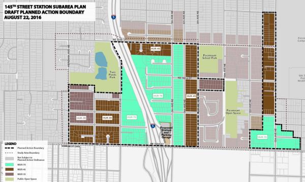 Subarea planned action boundary. (City of Shoreline)
