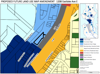 One of the site-specific FLUM amendment proposal sites. (City of Seattle)