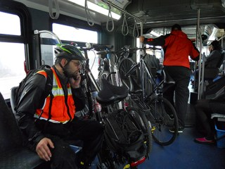 Internal bike racks on Swift. (Scott Bonjukian)