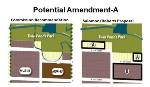 Amendment A would remove MUR-35 zoning near Twin Ponds Park to R-6. (City of Shoreline)