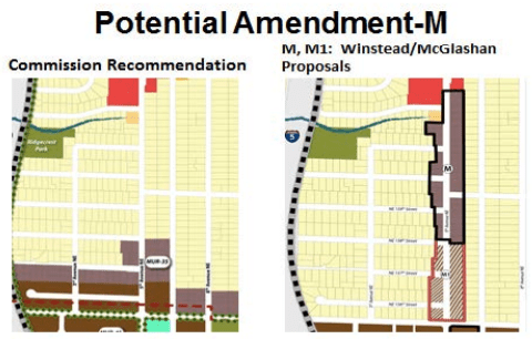 Amendment M would change select R-6 zoning north NE 158th St to MUR-35. (City of Shoreline)
