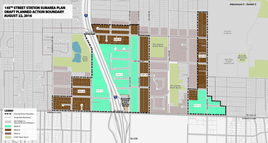Draft zoning for Phase 1 rezone. (City of Shoreline)