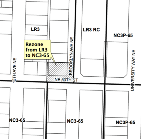 5001 Brooklyn Ave NE rezone. (City of Seattle)