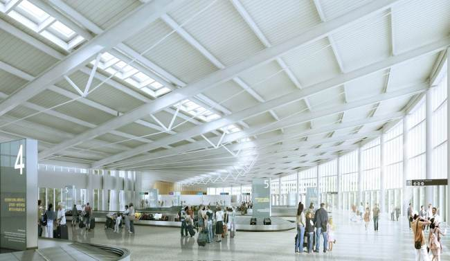 Baggage claim area at the new international arrivals facility. (Port of Seattle)