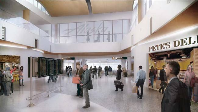 More shopping, improved arrivals and departures information, and a new upstairs at the North Satellite. (Port of Seattle)