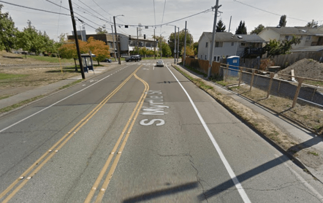 Conditions of S Myrtle St near 32nd Ave S in August 2015. (Google)