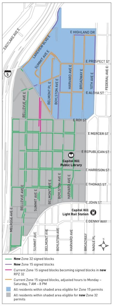 Updated RPZ plan for the western shoals of Capitol Hill. (City of Seattle)