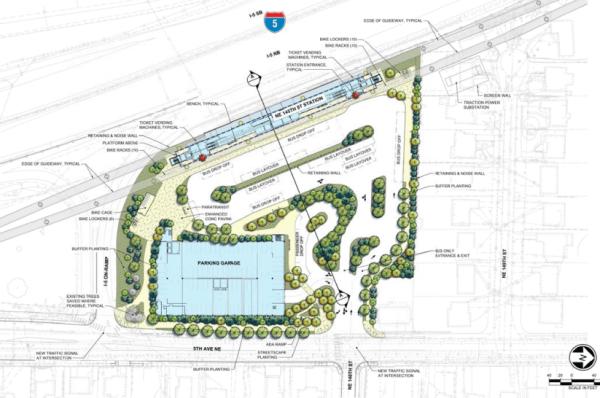 NE 145th St station area layout. (Sound Transit)