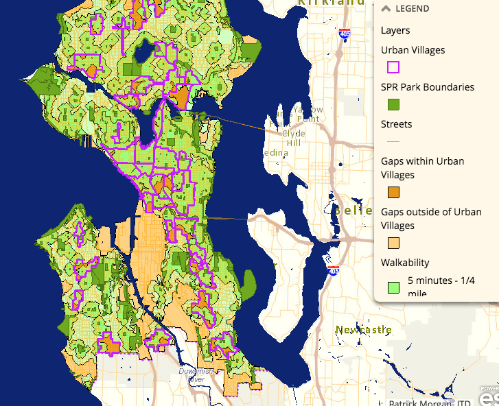 Map Of The Week Seattles Open Space Gap Analysis The Urbanist