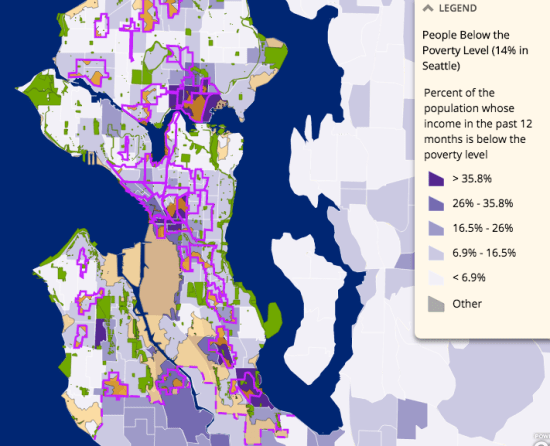 Gap analysis in relationship to poverty. (City of Seattle)