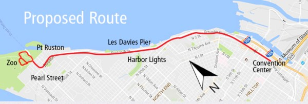 The alignment of New Route 15. (Pierce Transit)