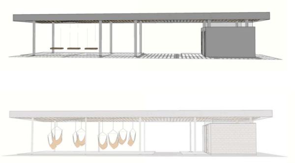 Boat Street pavilion concept. (Walker/Macy / City of Seattle)