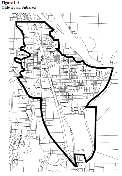 Olde Town subarea plan. (City of Issaquah)
