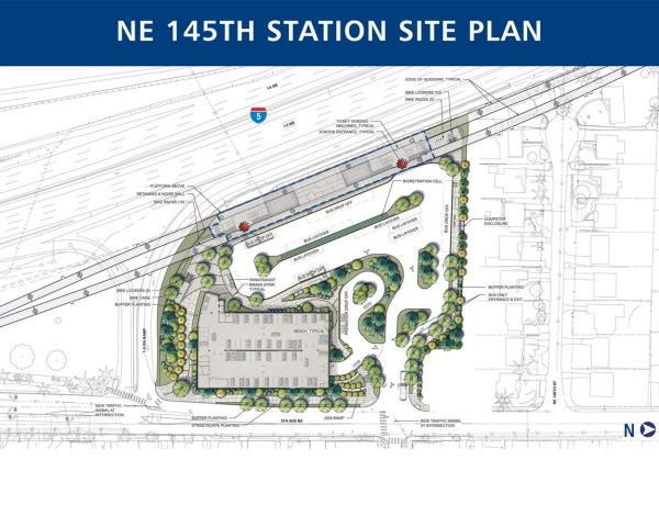 60% design site plan for 145th Street Station. (Sound Transit)