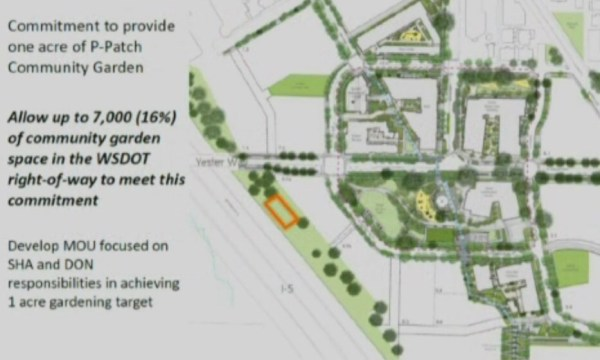 Proposed lease site for the new Yesler Terrace community garden. (City of Seattle / SHA)