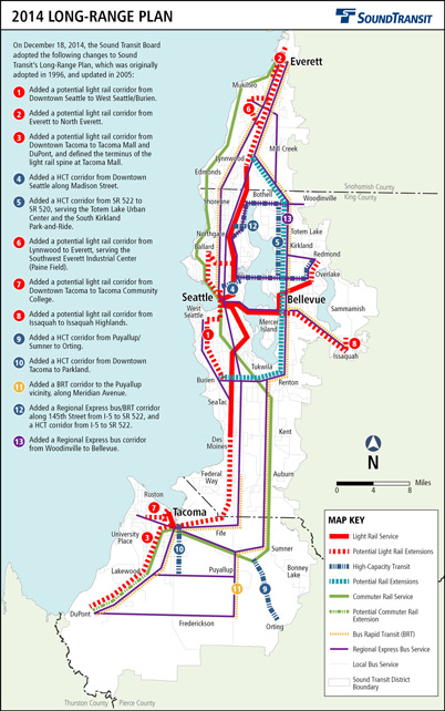 Sound Transit's adopted 2014 Long-Range Plan map. (Sound Transit)