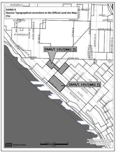 Technical correction to the Official Land Use Map of Belltown. (City of Seattle)