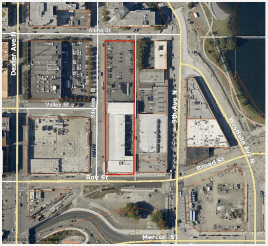 Site of the SCL property in South Lake Union. (City of Seattle)