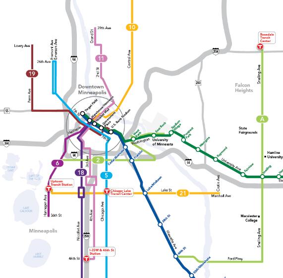 Minneapolis Subway Map.City Snapshot Exploring Minneapolis Urbanism The Urbanist