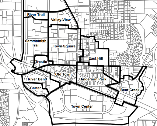 Zoning in Downtown Redmond. (City of Redmond)