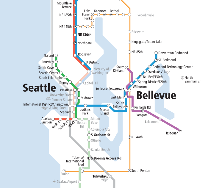 Link Light Rail Map Map of the Week: Sound Transit's New System Expansion Map » The  Link Light Rail Map