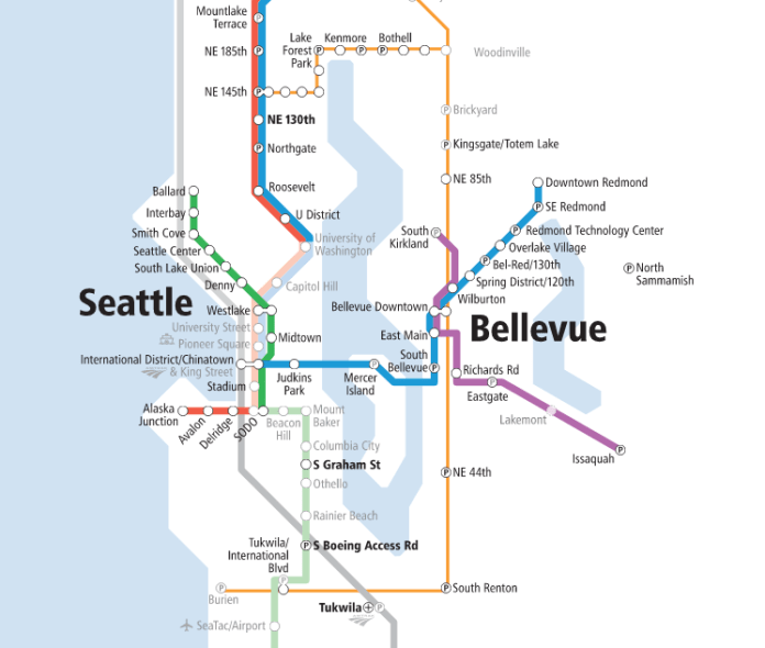 Under this lid station scheme, Seattle's high speed rail station would abut the Midtown light rail station--envisioned as the Green Line connecting Ballard to Tacoma. (Sound Transit)