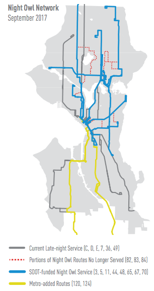 The new Night Owl Network in September 2017. (City of Seattle)