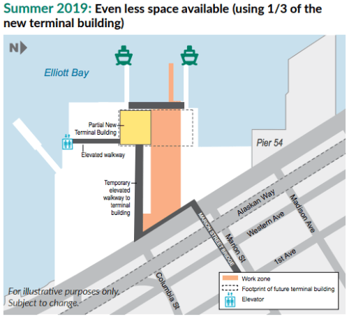 Construction impacts in Summer 2019. (WSF)