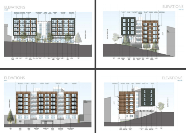 Proposed renderings of the 1600 Dexter Ave N development. (NK Architects)