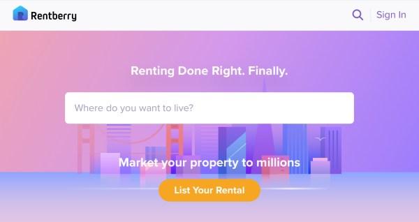 Rental housing bid platform. (Rentberry)