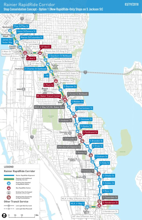 Option for stop changes to facilitate RapidRide. (City of Seattle)